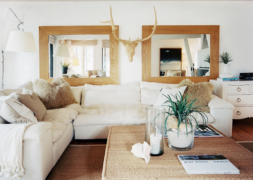 sectional with a beachy vibe.