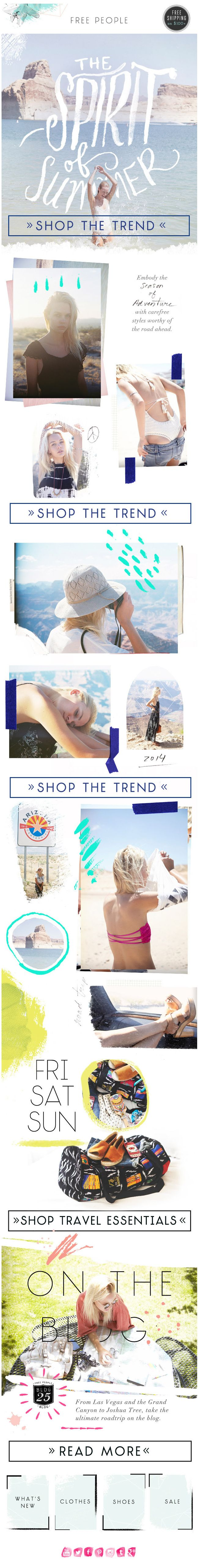 Free People : Editorial newsletter