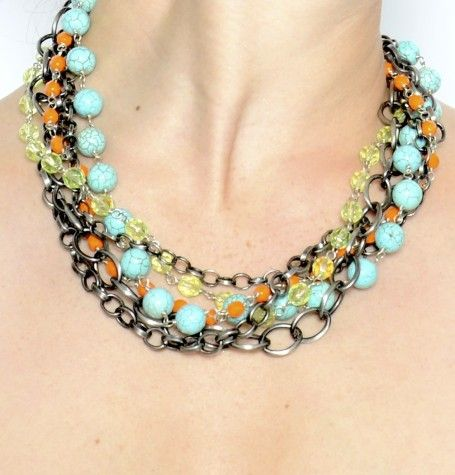 Becca Belz Crystal Chunky Neon Necklace