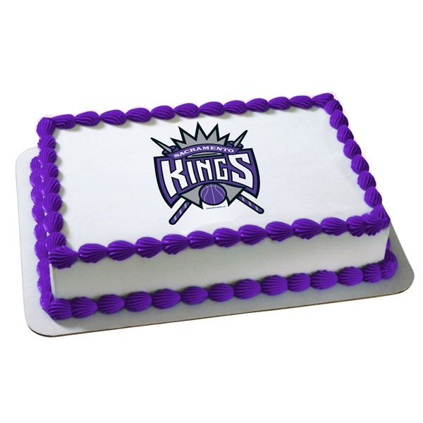 Magnificent Sacramento Kings Cake 1 Edible Image Cake Edible Images Personalised Birthday Cards Cominlily Jamesorg