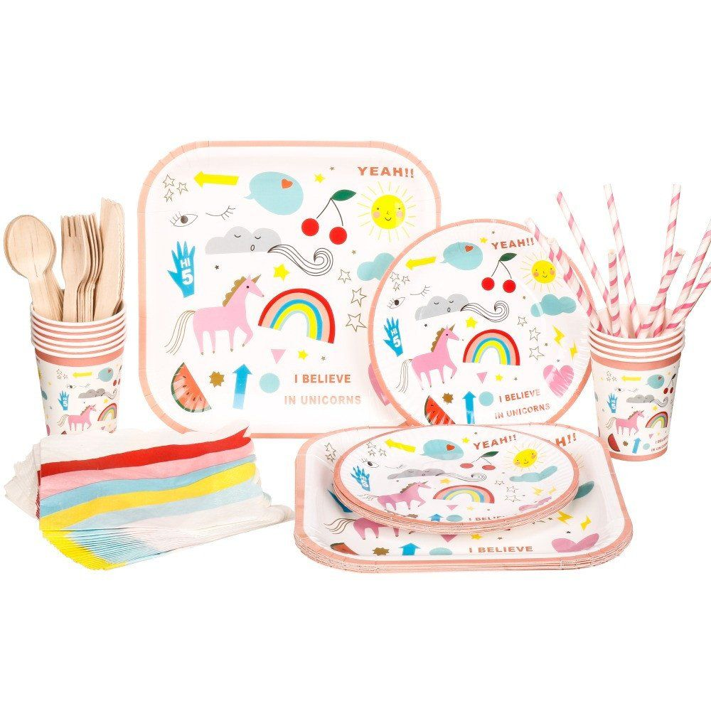 10 sets Disposable Tableware Unicorn Party Supplies  sc 1 st  Pinterest & 10 sets Disposable Tableware Unicorn Party Supplies | Disposable ...