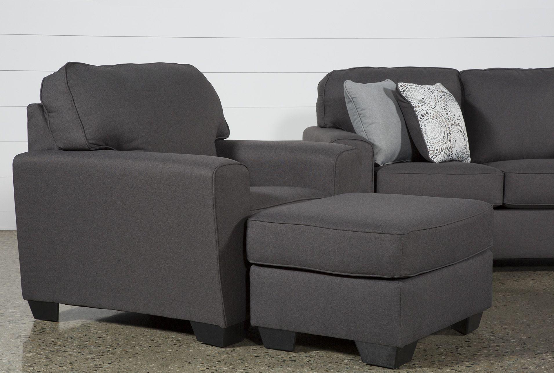 Best Ashley Mcdade Graphite 4 Piece Living Room Set Grey 400 x 300