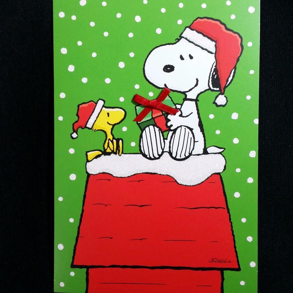 Christmas Cards Peanuts Snoopy Boxed Hallmark Woodstock Charlie