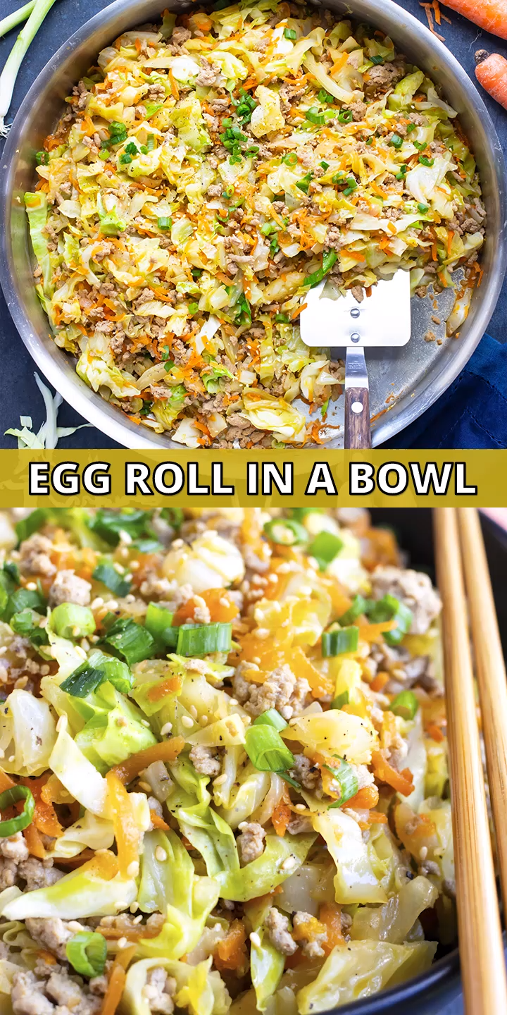 30-Minute Egg Roll in a Bowl | Low-Carb Egg Roll i