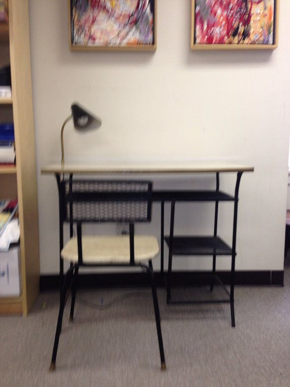 Attirant Weinberg Wrought Iron Desk And Chair Mid Century Classic On Etsy, $162.62