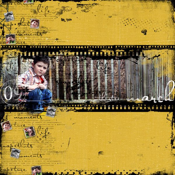 Oscraps :: Shop by Designer :: Cinzia Loosemore :: Film Strip Frame - Quick Page 1