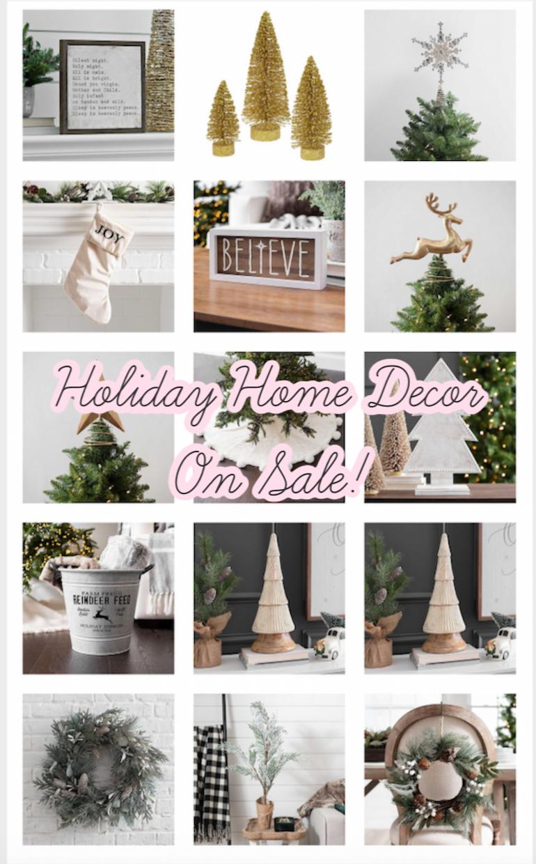 Holiday Home Decor On Sale! Holiday home decor, Home