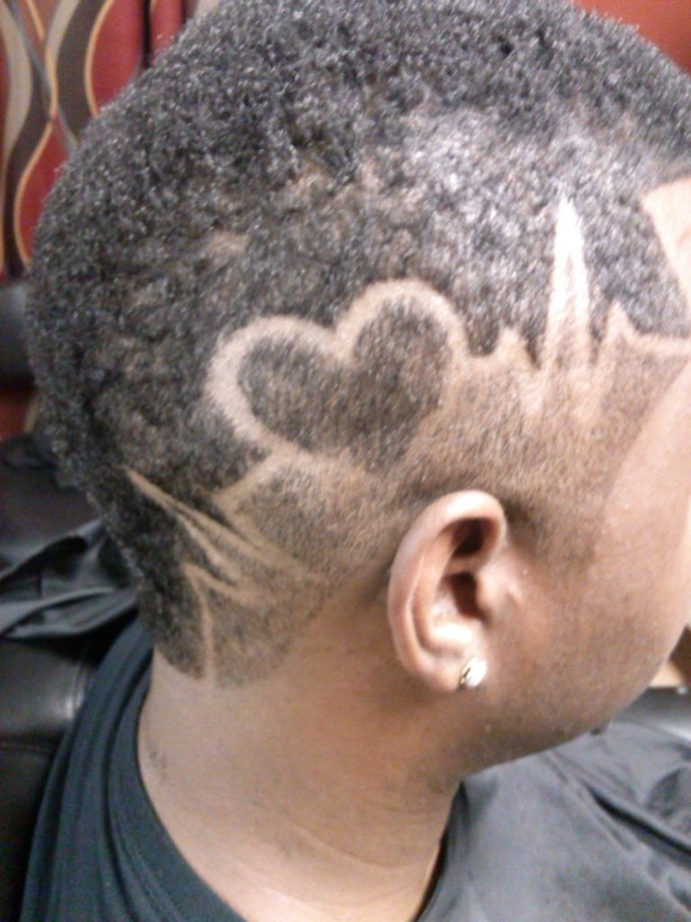 heartbeat design   my personal haircut designs in 2019