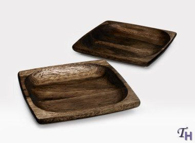 Noritake Kona Wood 7-3/4-Inch Square Plate : square wooden dinner plates - pezcame.com