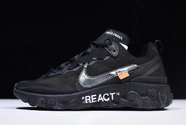 best website 4fcfe 836f5 Off-White x Nike React Element 87 Black AQ0068-001 Free Shipping