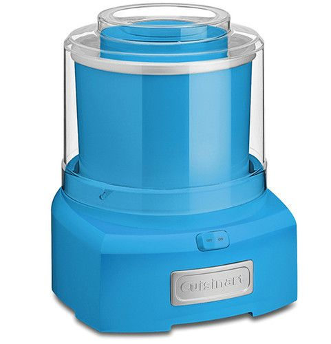 Cuisinart Blue Ice Cream Maker with 1.5-Qt. Capacity. Starting at $40 on Tophatter.com!
