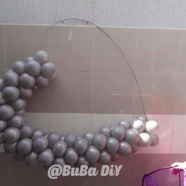 Ballooons Such A Pretty Decoration Bubadiy Video In 2020 Diy Balloon Decorations Birthday Balloon Decorations Diy Birthday Decorations
