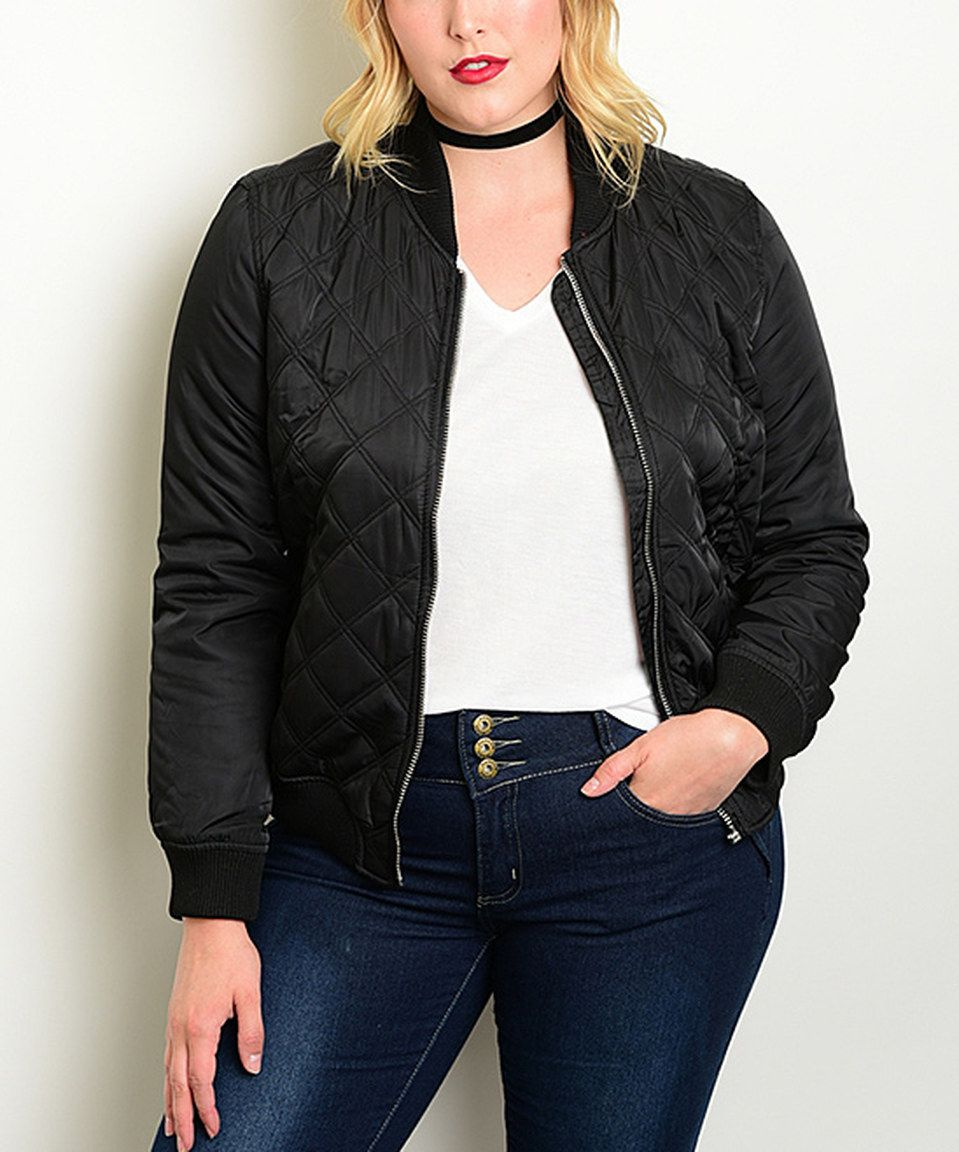 Look what I found on #zulily! Black Quilted Jacket - Plus by Shop the Trends #zulilyfinds