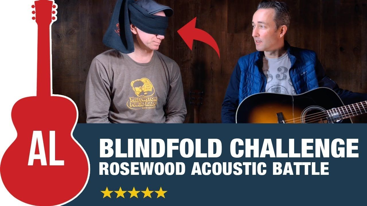 Blindfold Challenge Gibson Vs Martin Vs Taylor Vs Guild Vs Yamaha Vs Ea Yamaha Ll6 Blindfold Youtube Subscribers
