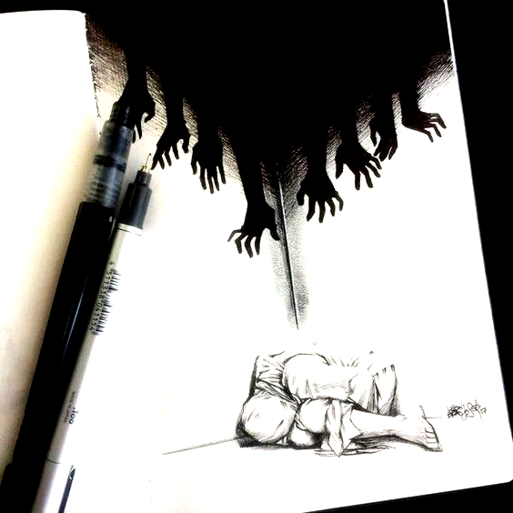 sketches The nightmares dont hurt they just make you see the truth  Site Today  Art sketches