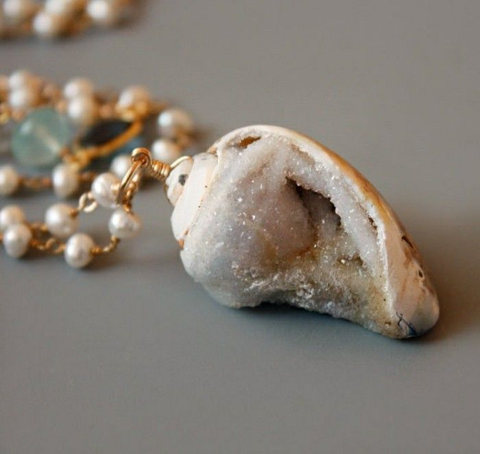 decoration coquillage mer bijoux colier marin en perles
