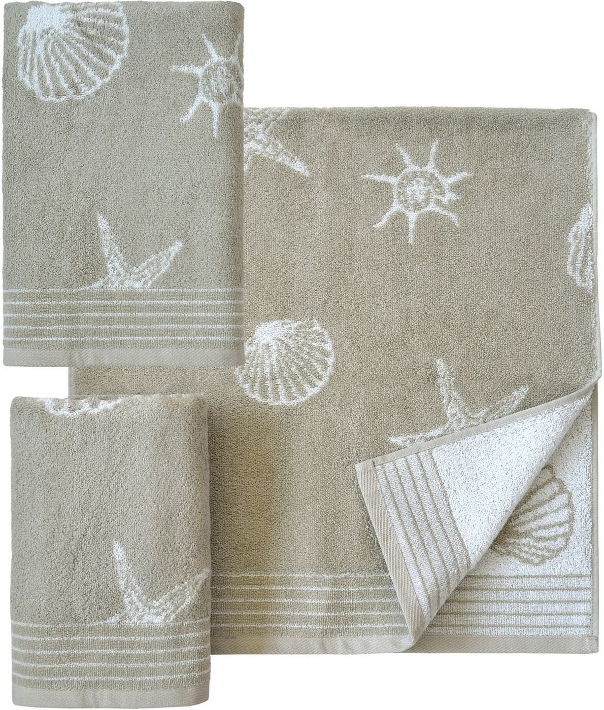 Maritime Farben handtuch set dyckhoff seashell mit muschelmuster handtücher