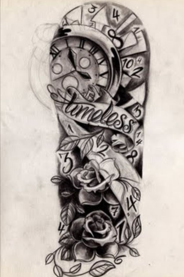 1a02327d4 Time sleeve tattoo.... Probably the coolest thig I've ever seen... I love  clocks!