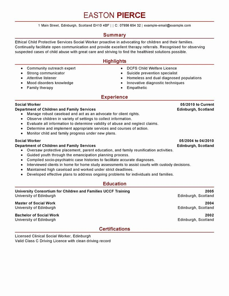 14++ Social media resume summary Format