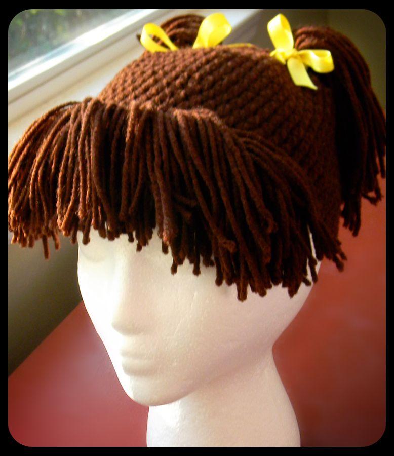 Hair Hat Oooohhhhh I Love This Idea Lol Crochet Costumes Crochet Wig Crochet Cap