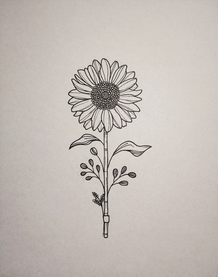 I have a sunflower tattoo on my arm mine has four flowers ...