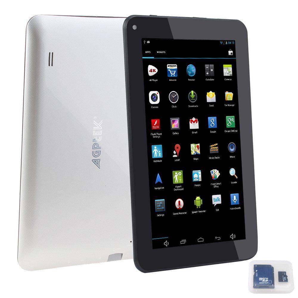 Agptek 4gb storage 8gb tf card android 42 quadcore 5