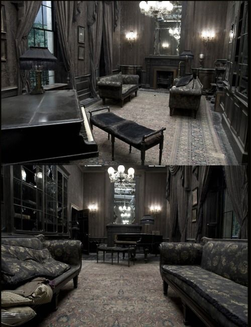 50 Gothic Designed Living Rooms and decorating ideas * Unique Intuitions