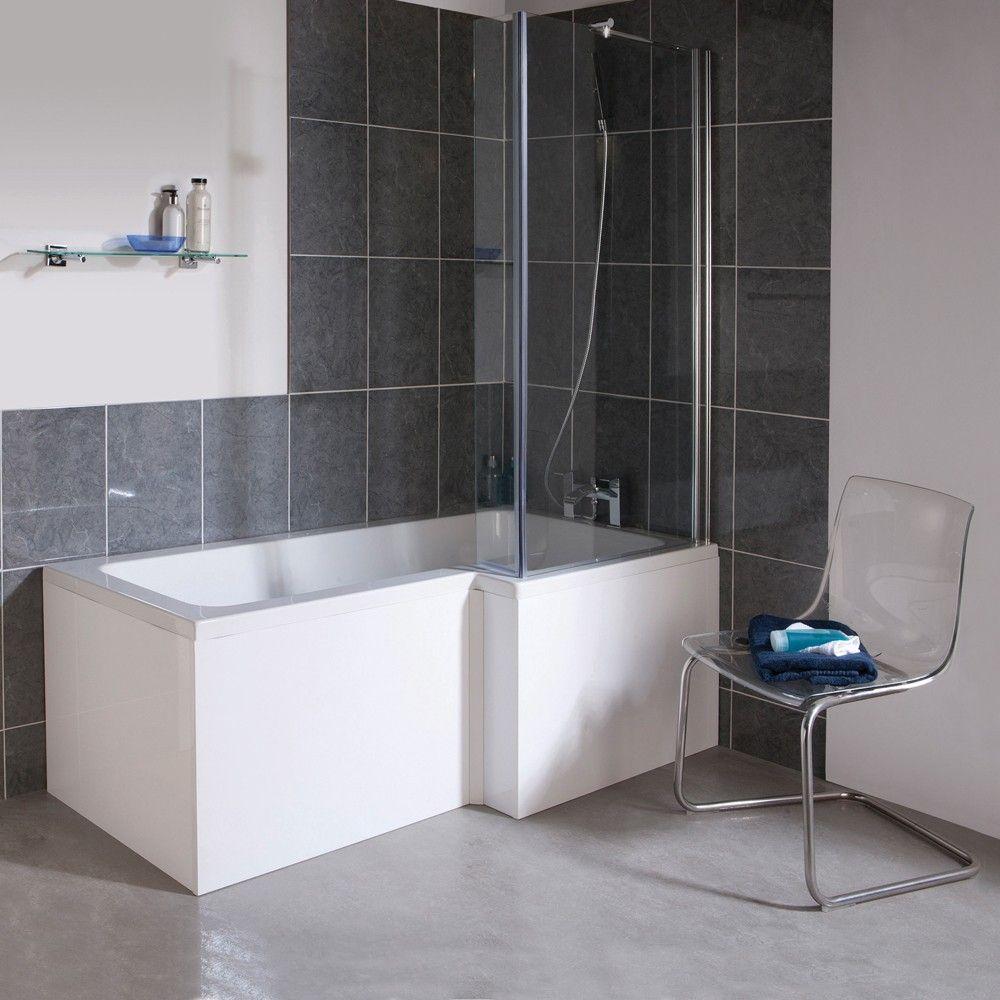 Duschbadewanne Rechtsbündig 1700mm mit Duschabtrennung aus Glas ... | {Duschbadewanne 31}