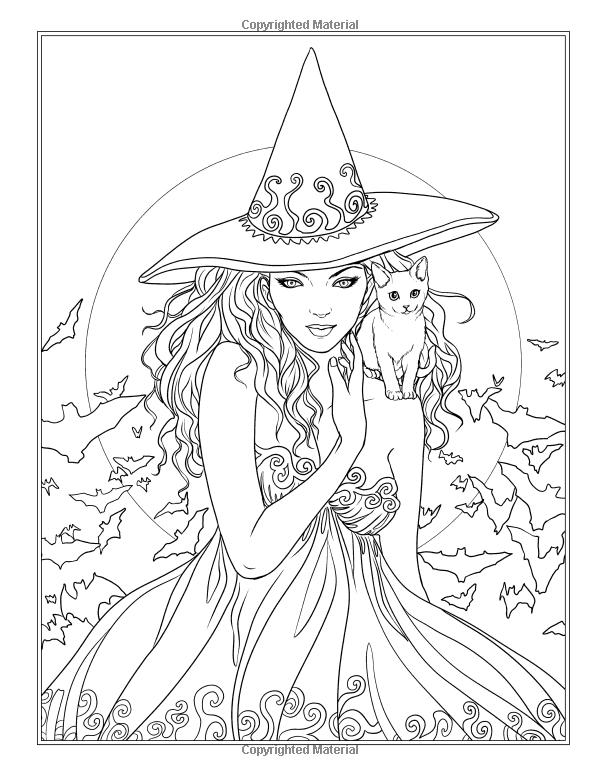 Amazon.com: Noche mágica - gótico y Halloween para colorear Libro ...