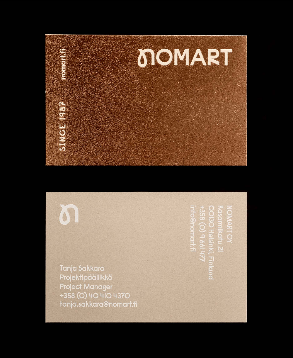 Work Nomart With Images Business Cards Layout Branding