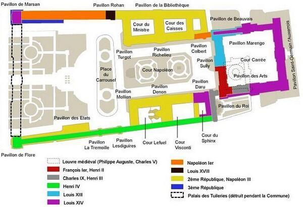 Plan Du Louvre Et tapes De Construction  Infos Et Anecdotes