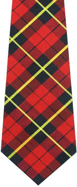 Fiori Gialli Irlanda.Wallace Plaid Tartan Irish Poplin Tie Apl 1 Red Black Yellow