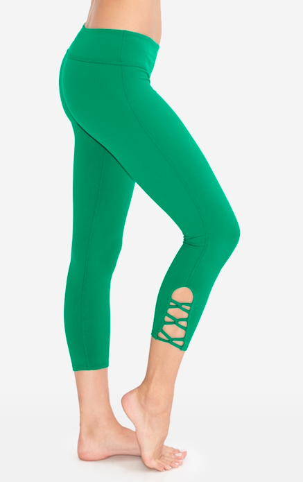 a4196dd2e96277 Infinity Capri Legging by Beyond Yoga in Bright Emerald | Activewear, Green Yoga  Pants, Leggings, Fitness Fashion, Athleisure