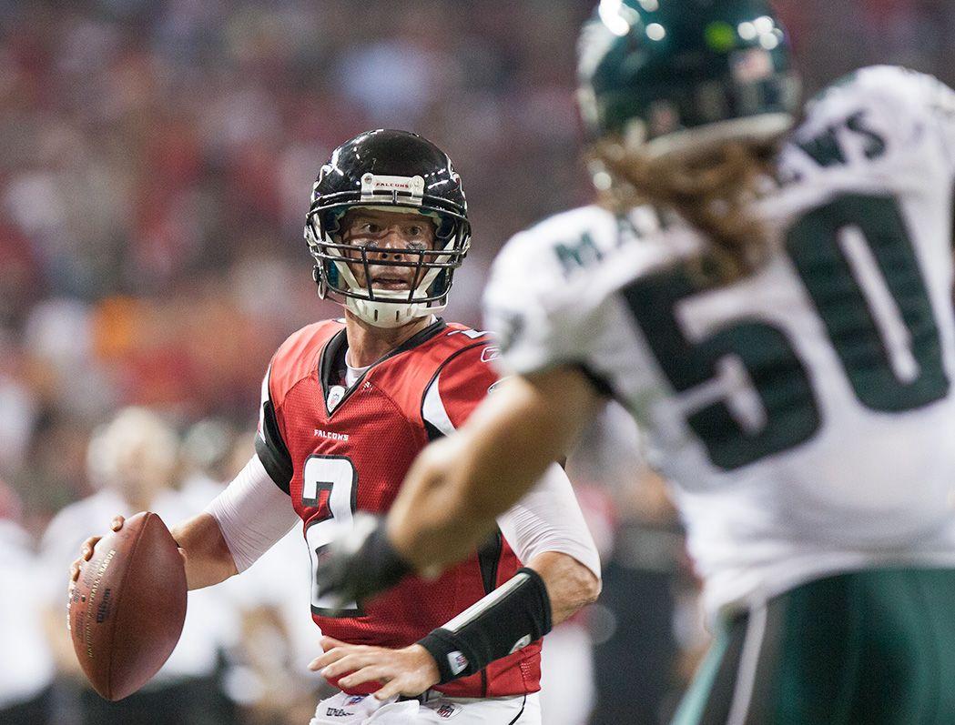 Falcons Vs Eagles Football Helmets Atlanta Nfl