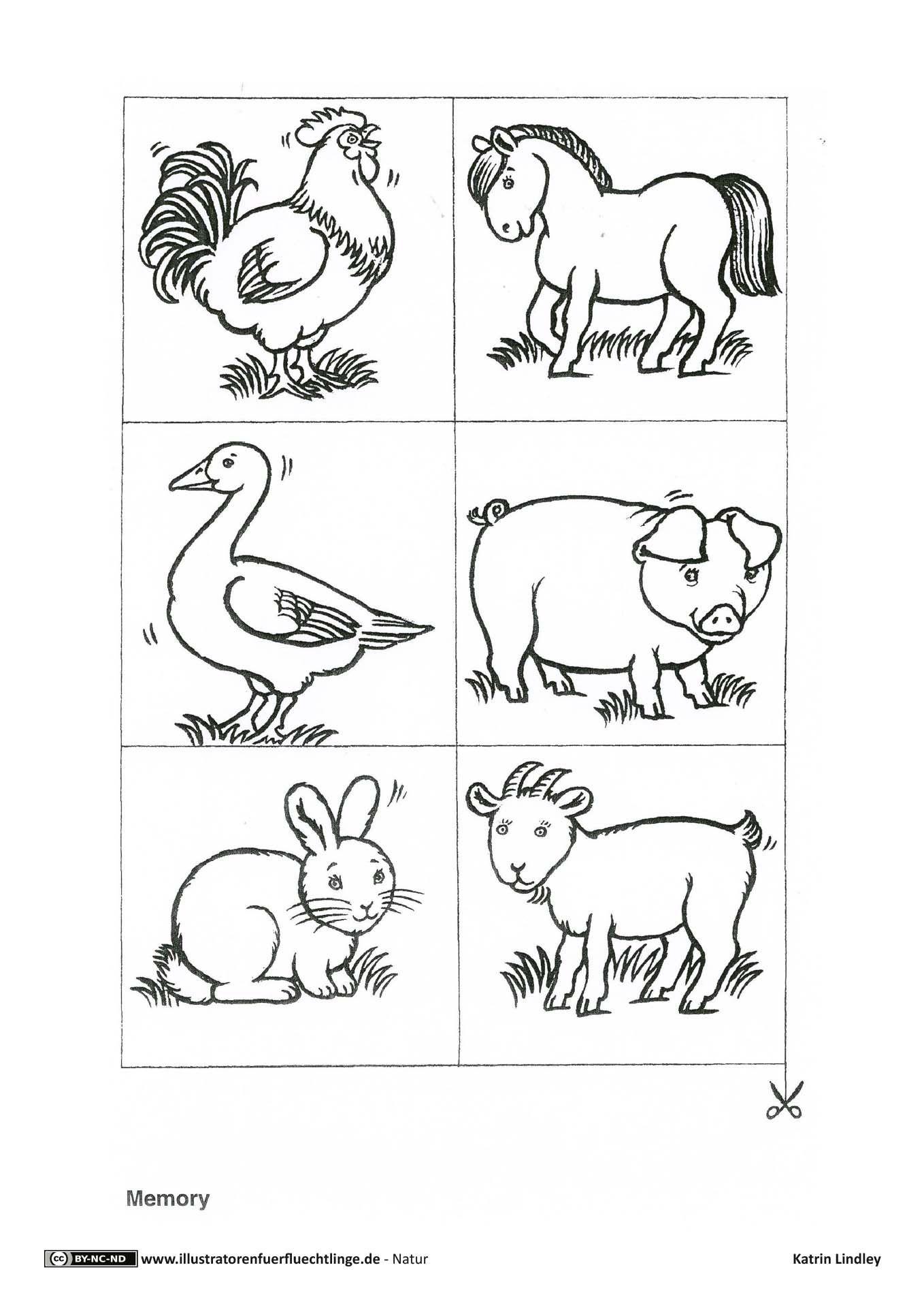 Download als PDF (9 Seiten): Natur – Bauernhof Tiere Memory