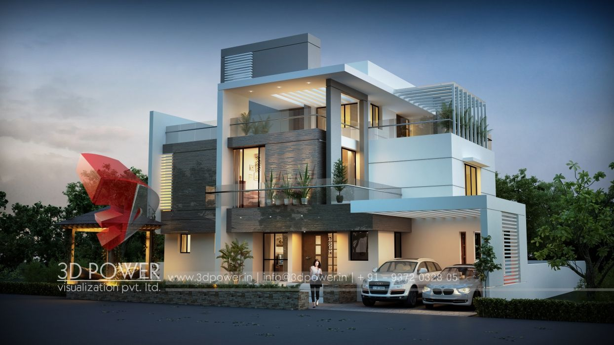 3d modern exterior house designs design a house - Exterior Modern Home Design