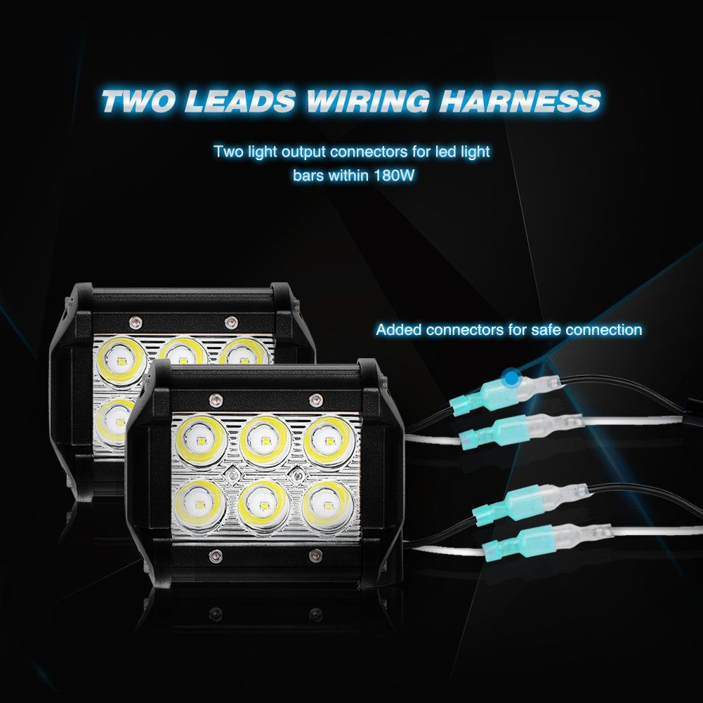 Nilight Led Light Bar Wiring Harness Kit 12v On Off Switch Power Road Kits Relay Blade Fuse For