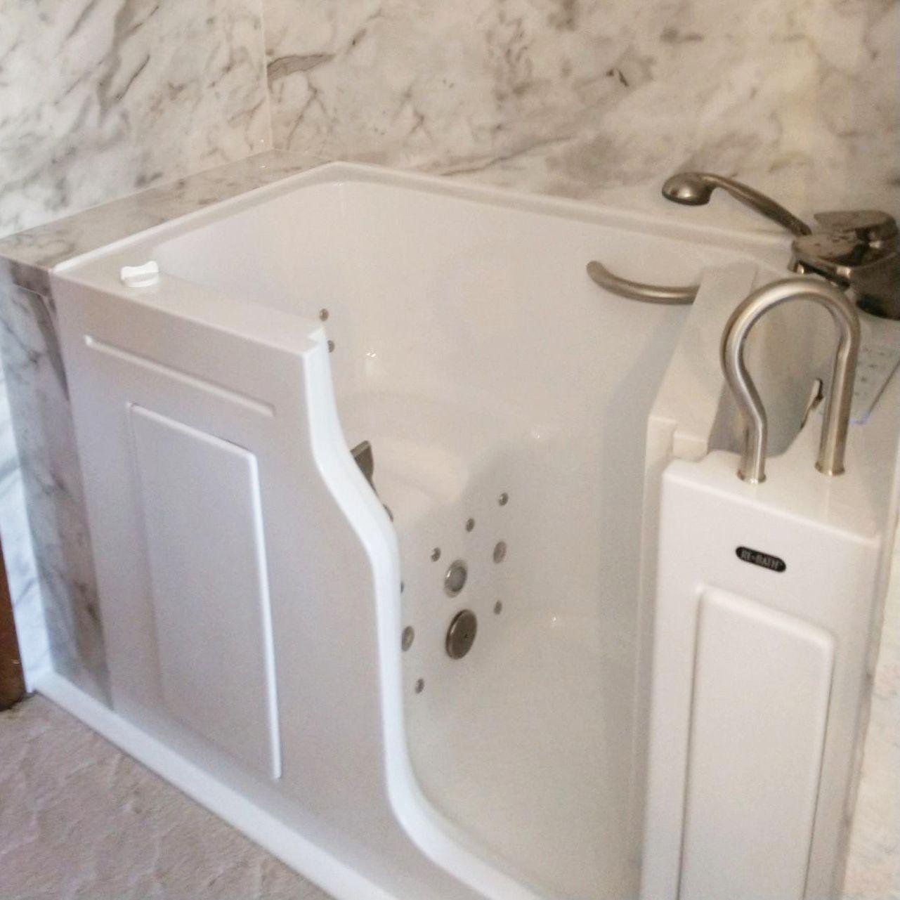 Escape Plus Walk In Tub With 3 Wall Surround Custom Colour