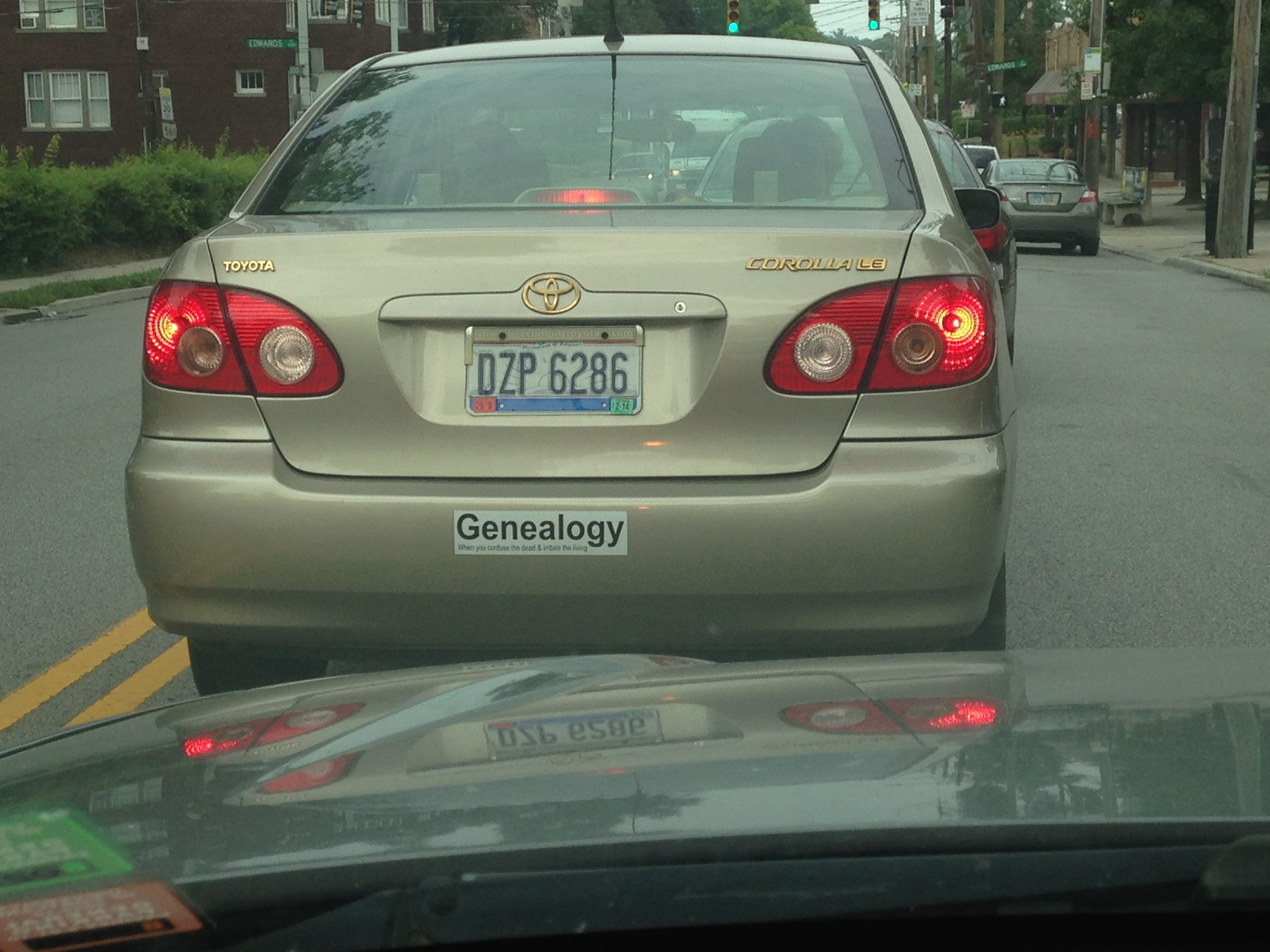 Check out the license plate I saw yesterday! It says, \