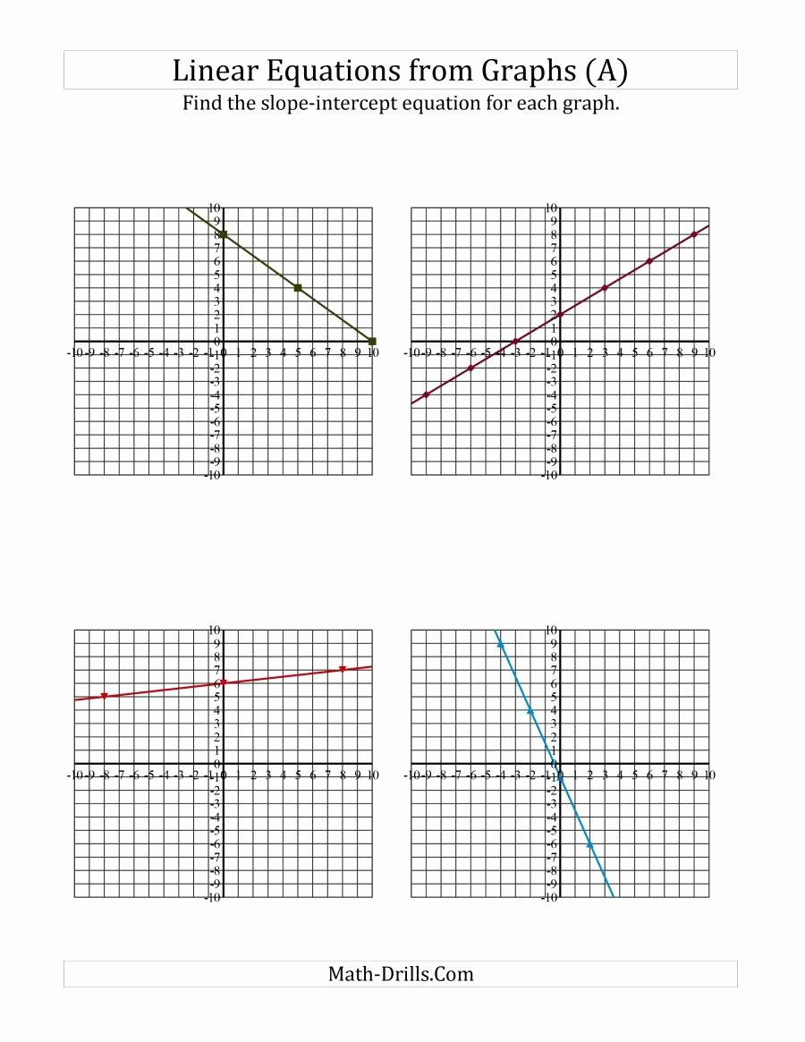 Slope Word Problems Worksheet Unique Find A Slope Intercept Equation From A Graph A Algebra Graphing Linear Equations Slope Math Linear Equations