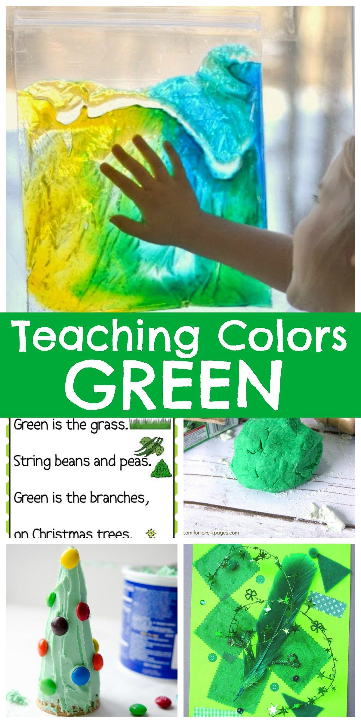 Teaching Colors - Green | Teaching colors and Activities