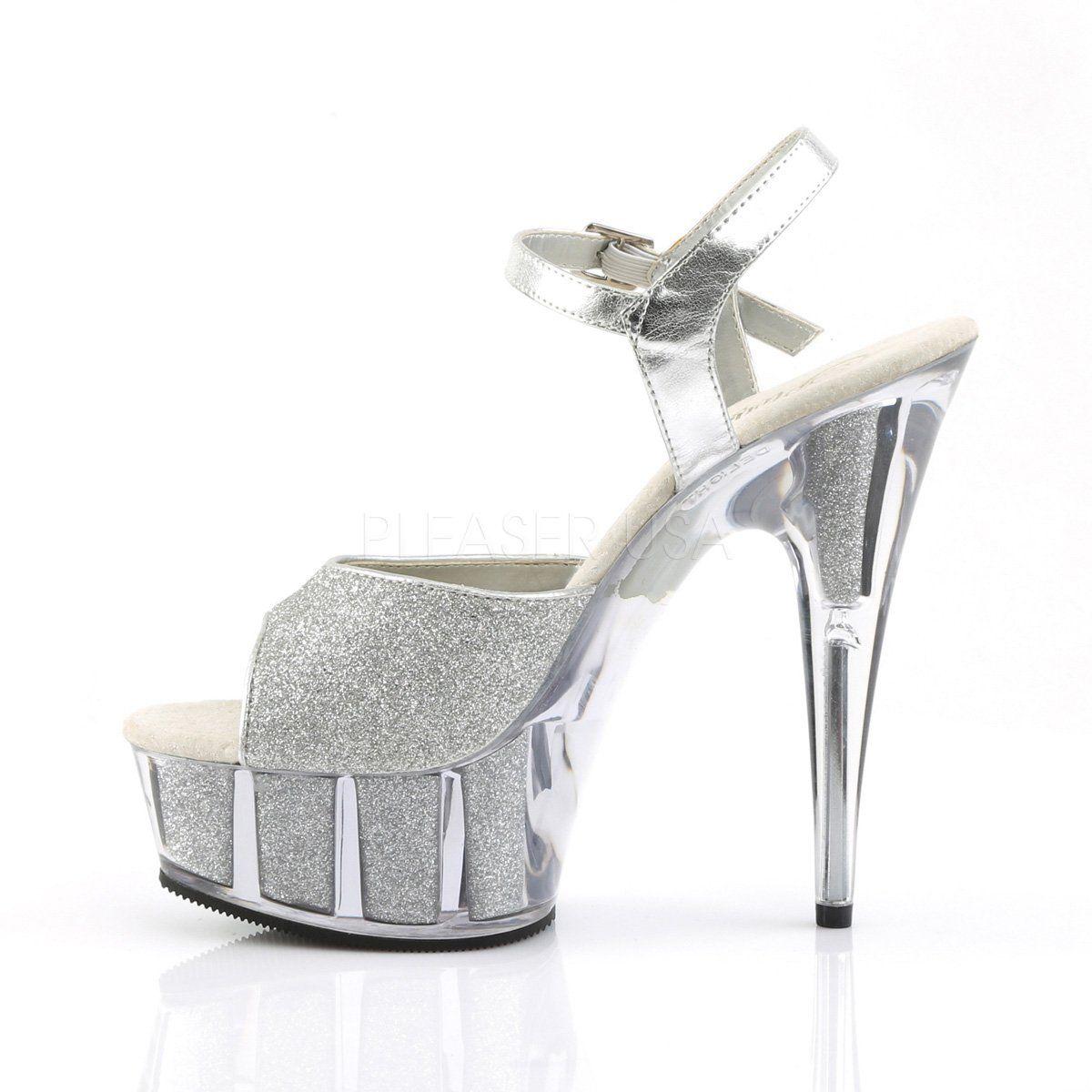 b1fe4e3e215 Pleaser - DELIGHT-609-5G - Silver Glitter Silver Glitter - Platforms ...