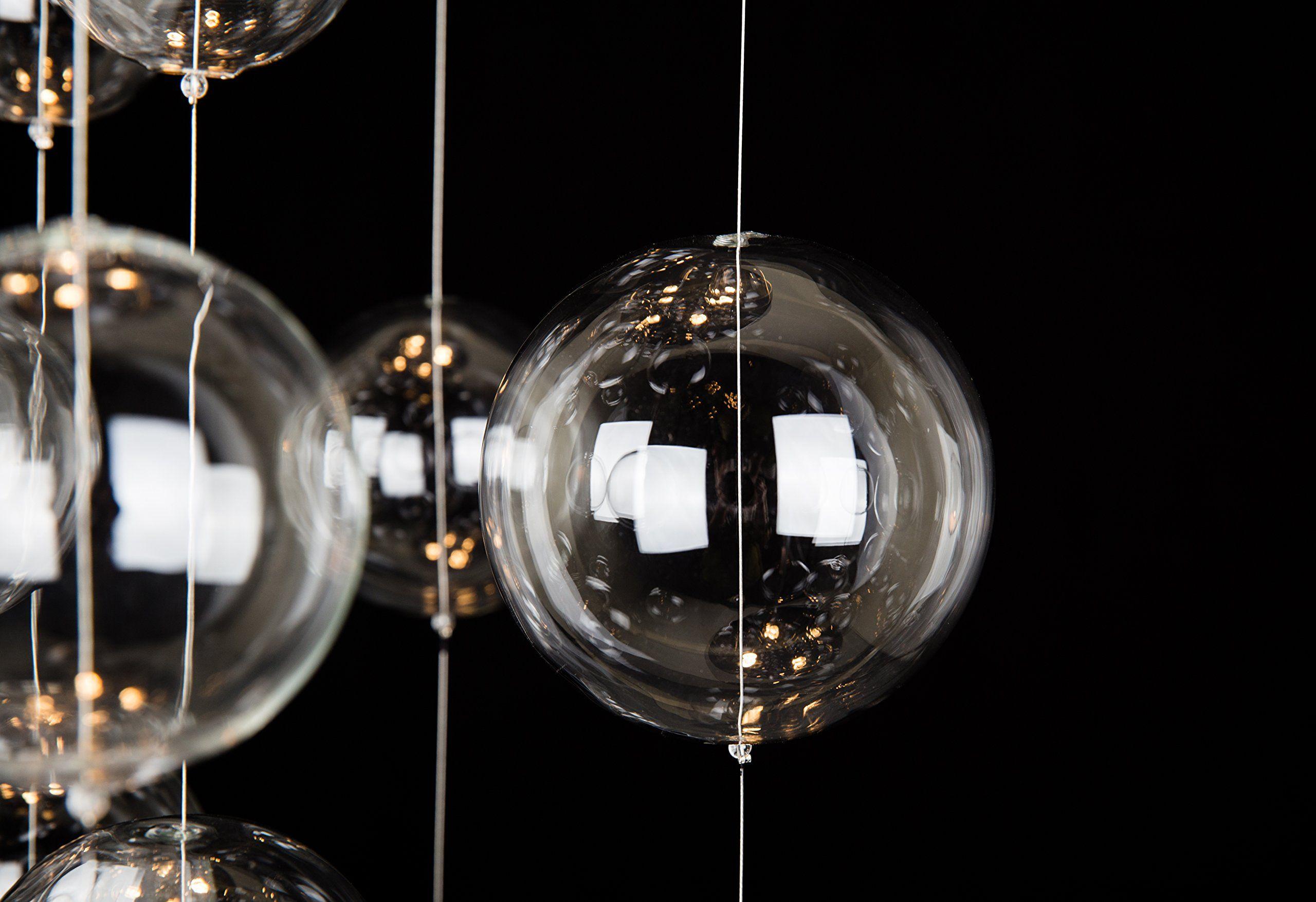 Saint Mossi Modern Glass Raindrop Chandelier Lighting Flush Mount Led Ceiling Light Fixture Pendant Lamp For
