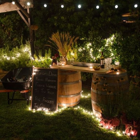 25 Amazing Deck Lights Ideas Hard And Simple Outdoor: Garten-Bar Selber Bauen