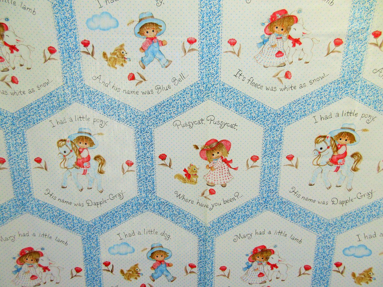 Vintage Fabric Nursery Rhyme