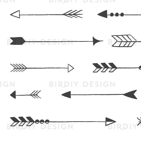 Rustic Arrow Clipart Tribal Arrow Clipart Rustic By Birdiydesign Arrow Clipart Clip Art Tribal Arrows