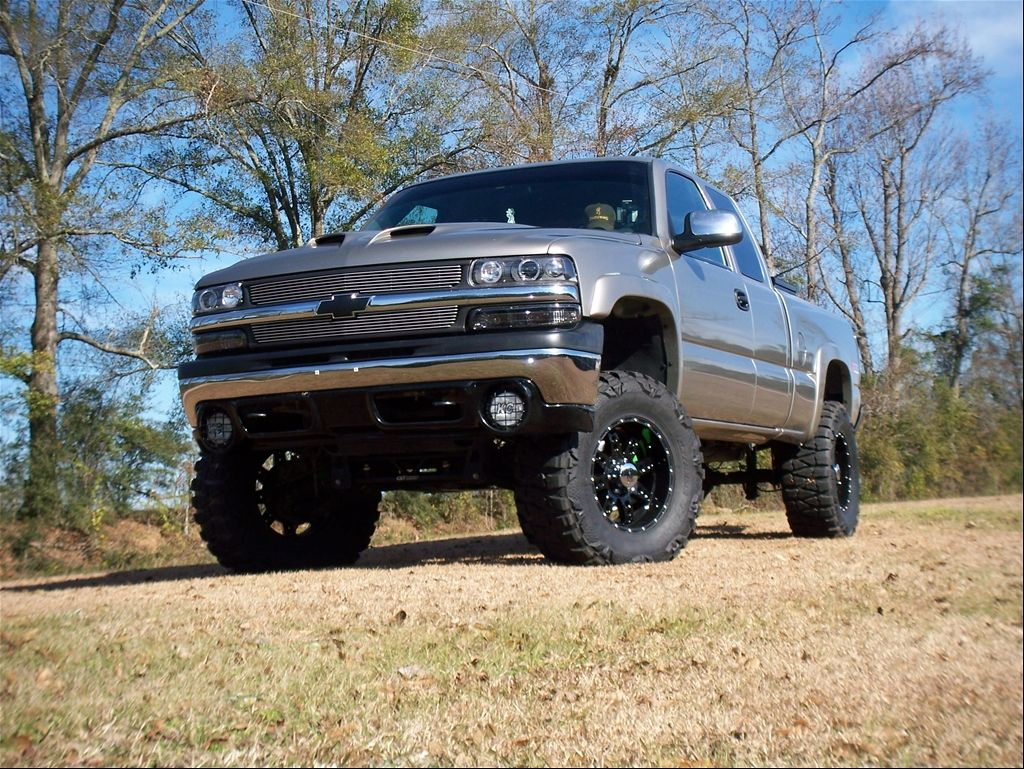 silver silverado lifted images - photo #10