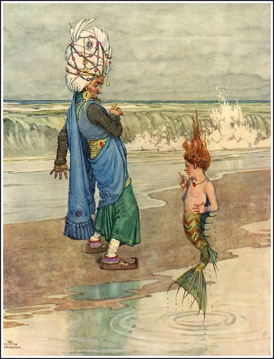 William Heath Robinson | {Could this little mermaid be ARIEL?} ◈