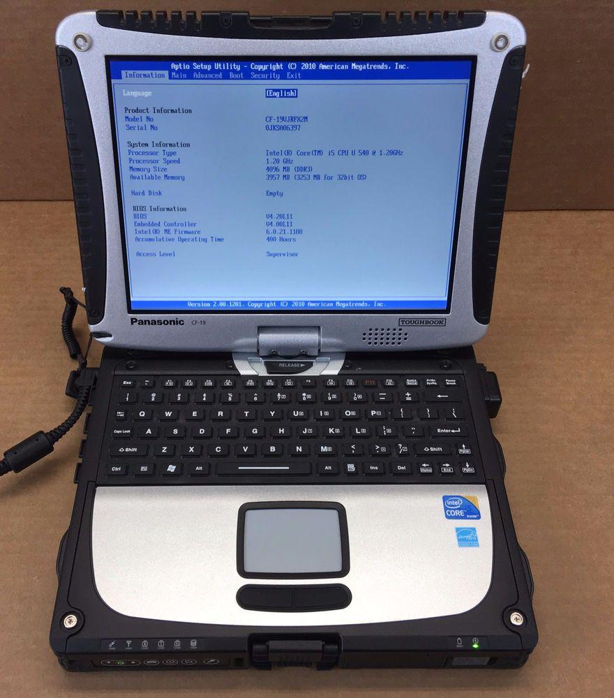 Panasonic Toughbook CF-19 Laptop Intel I5 540 1.20Ghz 4GB