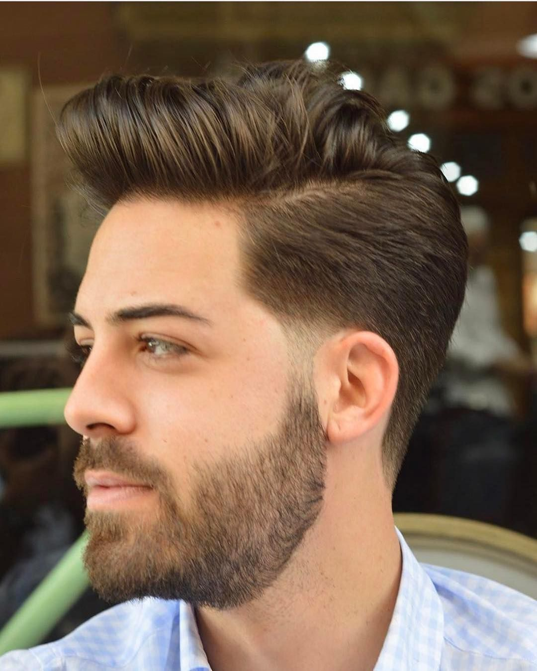 Classic Quiff With Side Part Mens Long Hairstyles Hair Styles